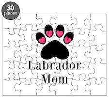 Labrador Mom Paw Print Puzzle