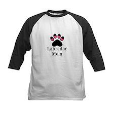 Labrador Mom Paw Print Baseball Jersey