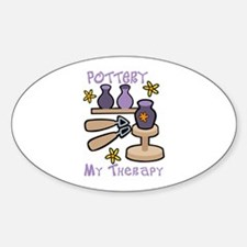 Pottery My Therapy Decal