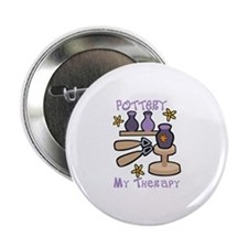"""Pottery My Therapy 2.25"""" Button"""