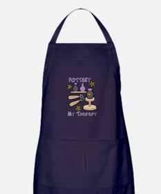 Pottery My Therapy Apron (dark)