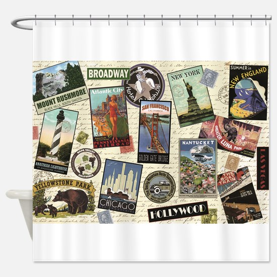 Funny Travel Shower Curtain