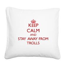 Cute Troll Square Canvas Pillow