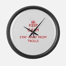 Unique Troll Large Wall Clock