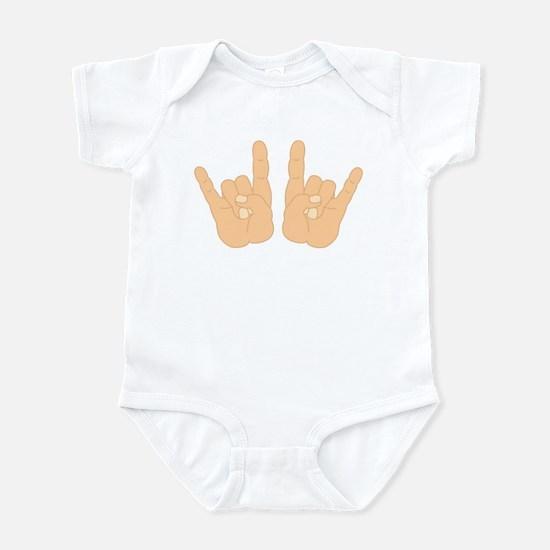 Rock & Roll Hands Hand Sign Infant Bodysuit