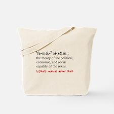 Feminism Defined Tote Bag