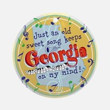 Georgia On My Mind Ornament (Round)