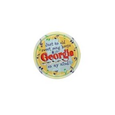 Georgia On My Mind Mini Button