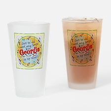 Georgia On My Mind Drinking Glass