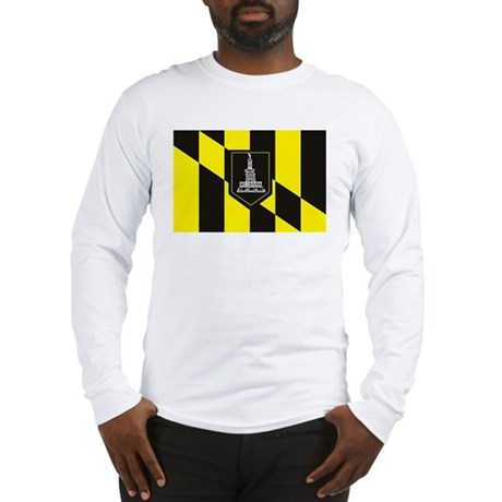 Baltimore Flag Long Sleeve T-Shirt