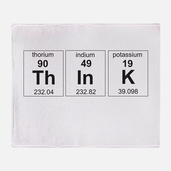 Periodic think elements Throw Blanket