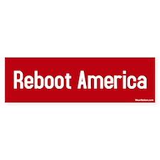 reboot america Bumper Bumper Sticker