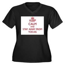 Keep calm and stay away from Yokais Plus Size T-Sh