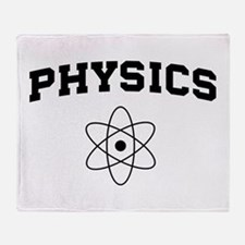 Physics atom Throw Blanket