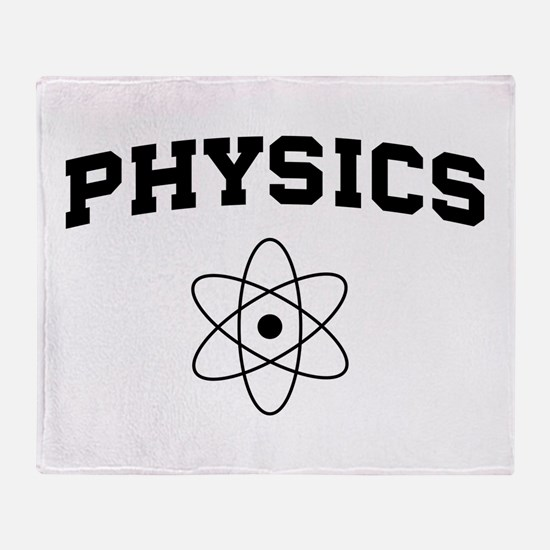 Physics atom Throw Blanket