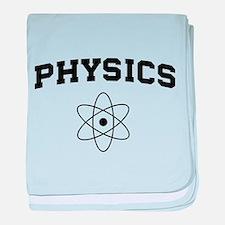 Physics atom baby blanket