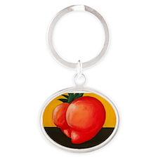 Heart Shaped Butt Tomato Oval Keychain