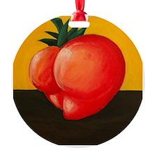Heart Shaped Butt Tomato Ornament