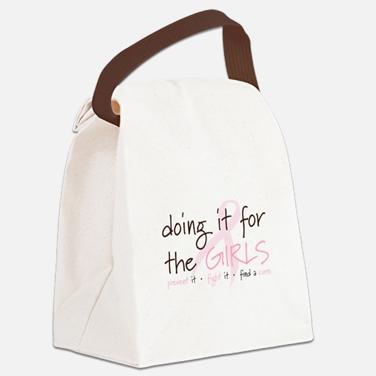 Breast Cancer Awareness Shirt Canvas Lunch Bag