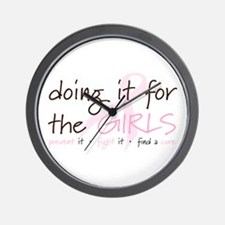 Breast Cancer Awareness Shirt Wall Clock