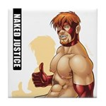 Naked Justice Tile Coaster