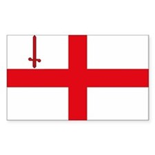 London Flag Rectangle Decal