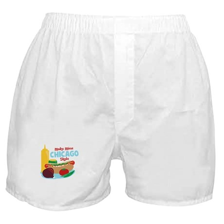 Make Mine Chicago Style Boxer Shorts
