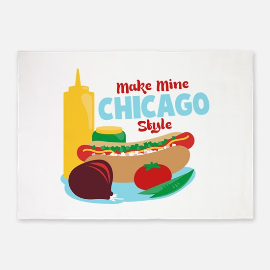 Make Mine Chicago Style 5'x7'Area Rug