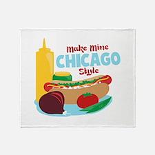 Make Mine Chicago Style Throw Blanket