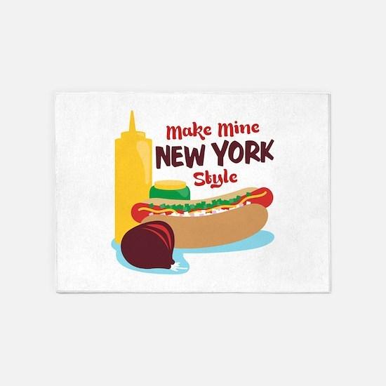Make Mine New York Style 5'x7'Area Rug