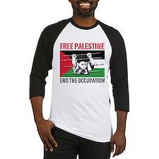 free palestine WHT Baseball Jersey