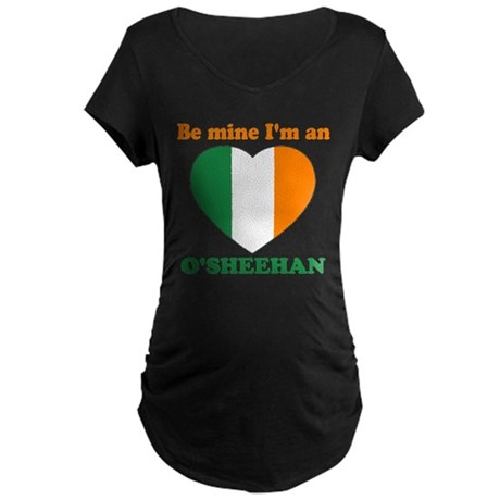 O'Sheehan, Valentine's Day Maternity Dark T-Shirt