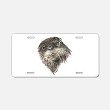 Cute Grumpy Otter Watercolor Animal art Aluminum L