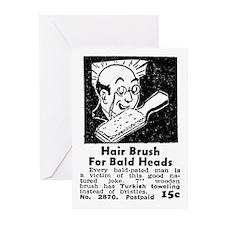 BALD HEAD BRUSH Greeting Cards (Pk of 10)