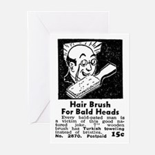 BALD HEAD BRUSH Greeting Cards (Pk of 10)