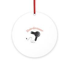 Hairdresser Ornament (Round)