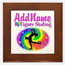 FIGURE SKATER Framed Tile