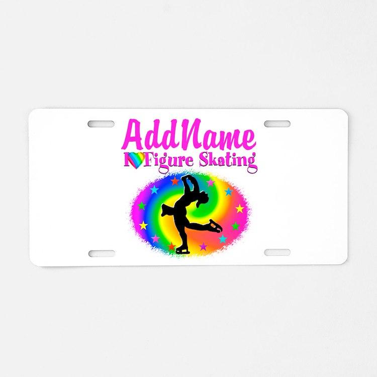 FIGURE SKATER Aluminum License Plate