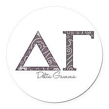 Delta Gamma Round Car Magnet