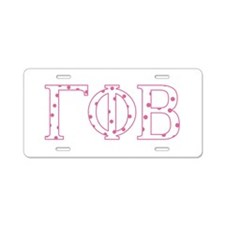 Gamma Phi Beta Aluminum License Plate