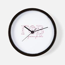Gamma Phi Beta Wall Clock