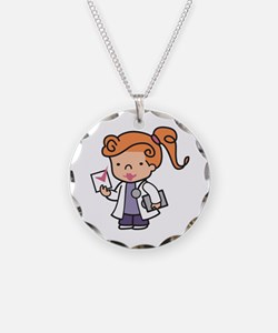 Girl Med Student Necklace