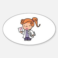 Girl Med Student Decal