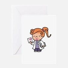 Girl Med Student Greeting Cards