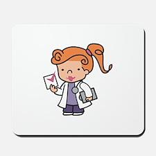 Girl Med Student Mousepad