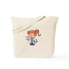 Girl Med Student Tote Bag