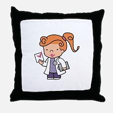 Girl Med Student Throw Pillow