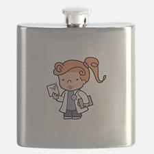 Girl Med Student Flask