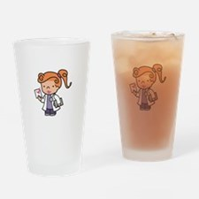 Girl Med Student Drinking Glass