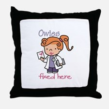 Owies Fixed Here Throw Pillow